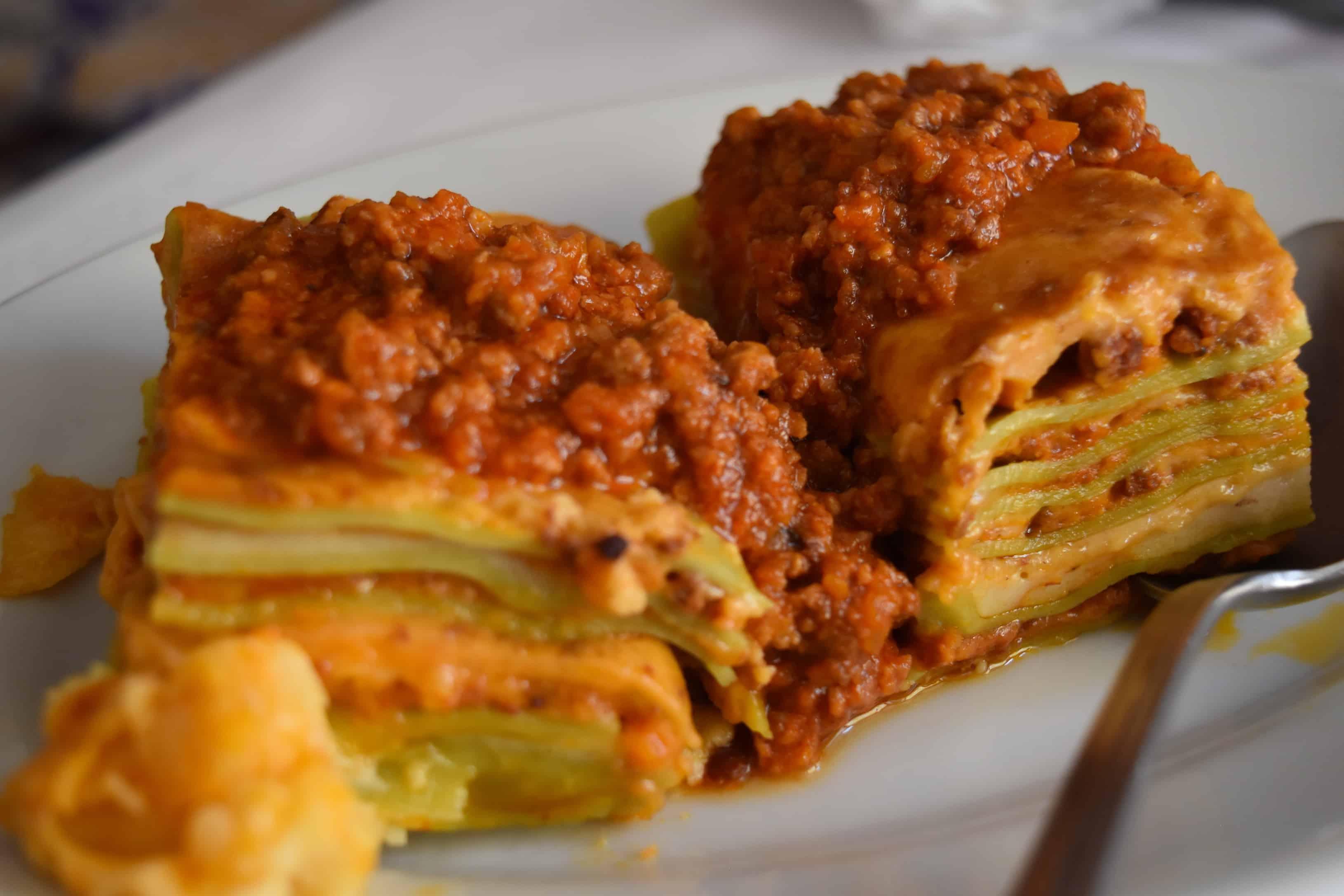 Layers of delicious lasagne in Emilia Romagna