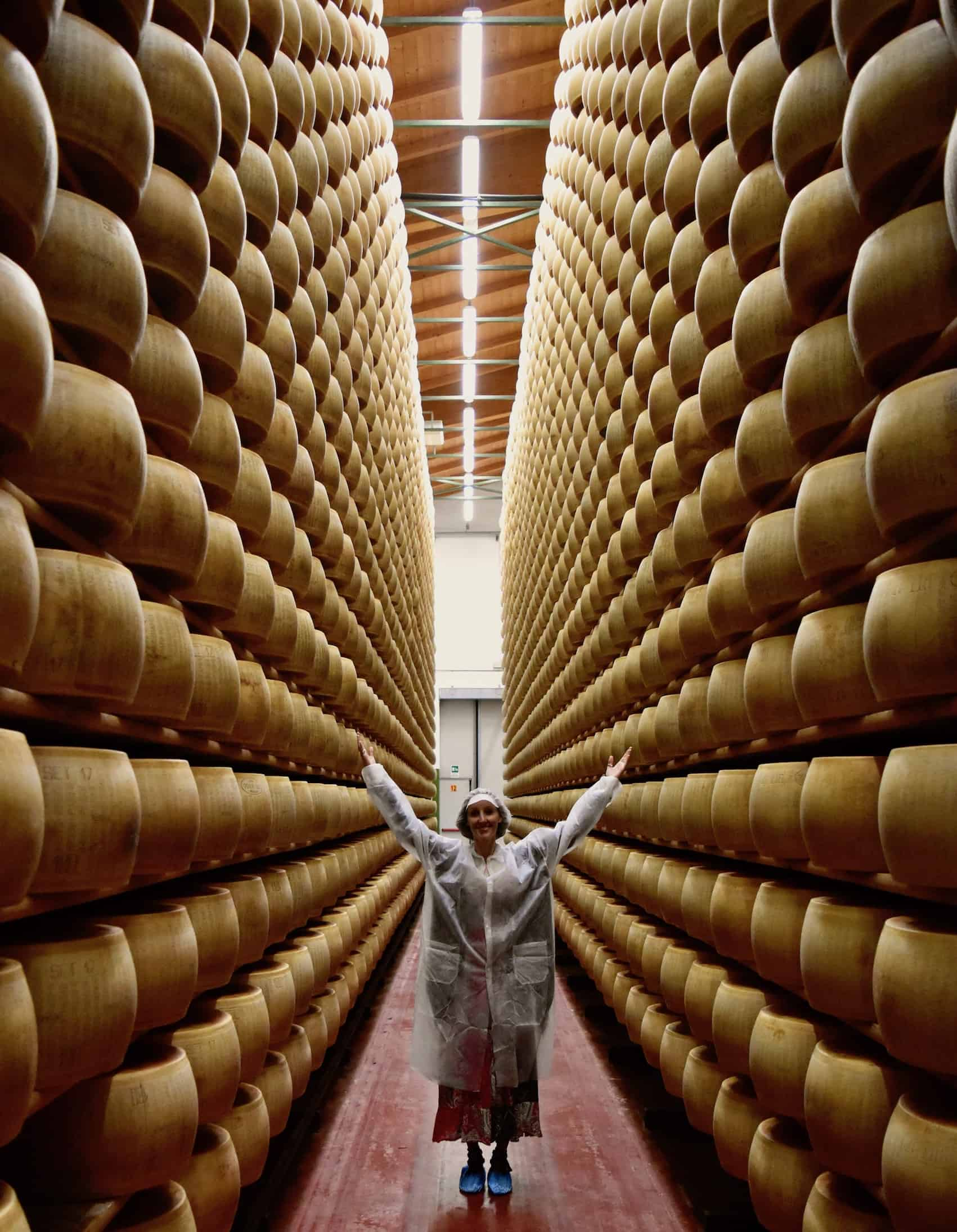 A corridor of cheese in Emilia Romagna